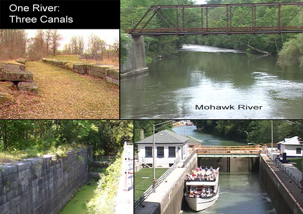 The Mohawk River's flow would somehow have to fill each of these Erie Canal locks