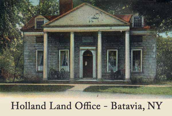 Today the Holland Land Office building is a museum at Batavia, NY.