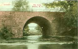 This culvert over the Oak Orchard River was replaced when the canal was elarged here in 1913-1914